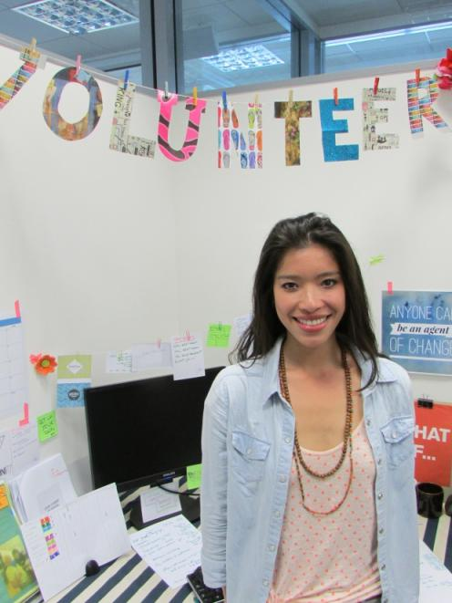 University Volunteer Centre co-ordinator Sze-En Lau is looking forward to signing up students...