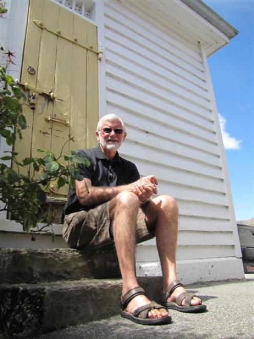 Upper Clutha Historical Records Society president Graham Dickson outside the old police cell in...