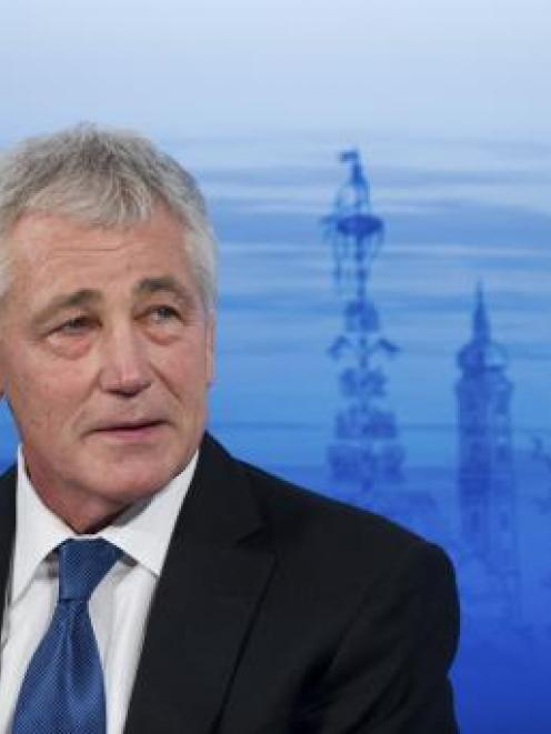 US Defence Secretary Chuck Hagel. REUTERS/LUKAS BARTH