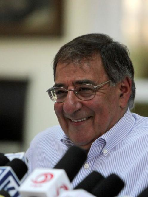 US Defense Secretary Leon Panetta speaks during a news conference in Kabul, Pakistan. REUTERS...