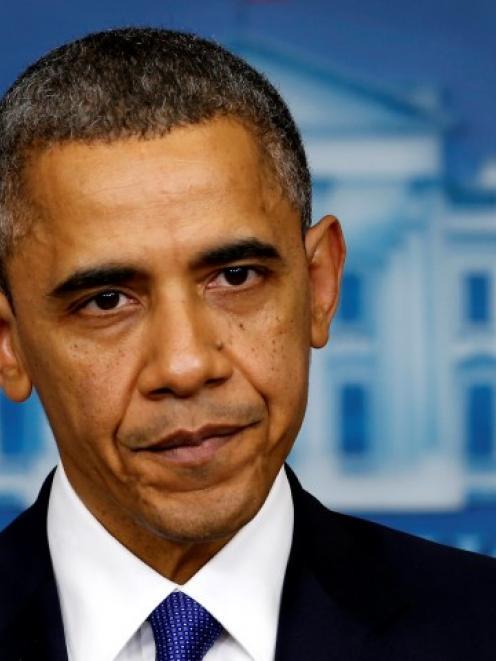US President Barack Obama speaks about the fiscal cliff at the White House in Washington. REUTERS...