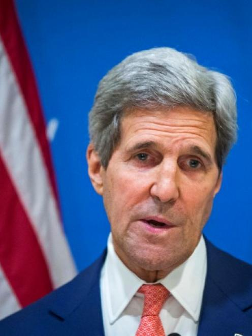 US Secretary of State John Kerry announces a 72-hour humanitarian ceasefire between Israel and...