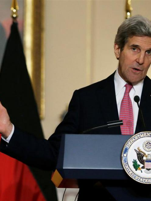 US Secretary of State John Kerry has condemned Moscow's moves on Ukraine. REUTERS/Gary Cameron
