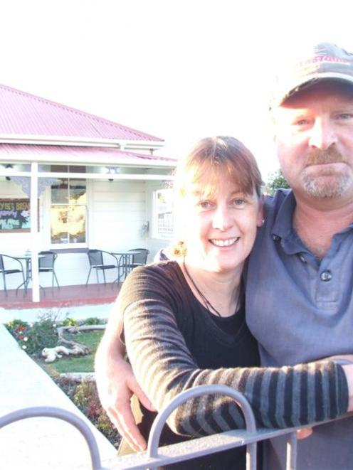 Vanessa's Cottage Cafe owners Vanessa Hendry and Tim Lockerbie outside their Hampden business....