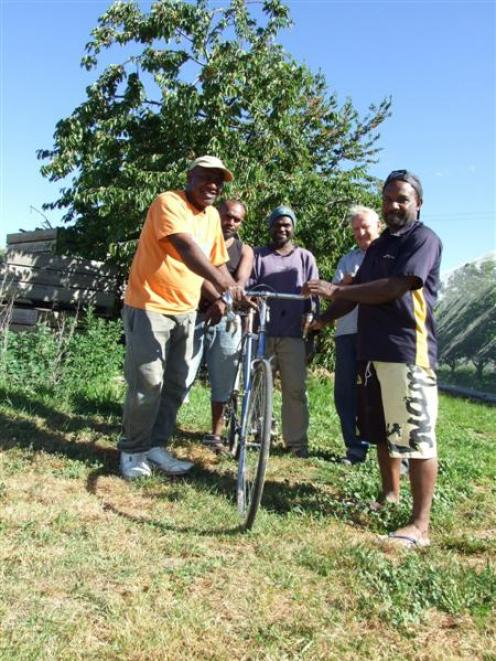 Vanuatuan seasonal workers appreciate being able to borrow bikes to use during their stay in...