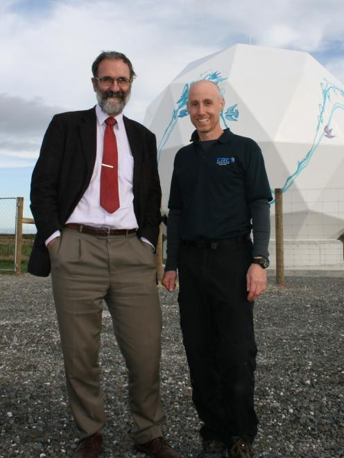 Venture Southland enterprise projects manager Robin McNeill (left) and CGC project engineer...