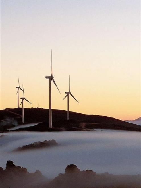 Vestas V90 3MW wind turbines, like those being installed at TrustPower's Mahinerangi wind farm....