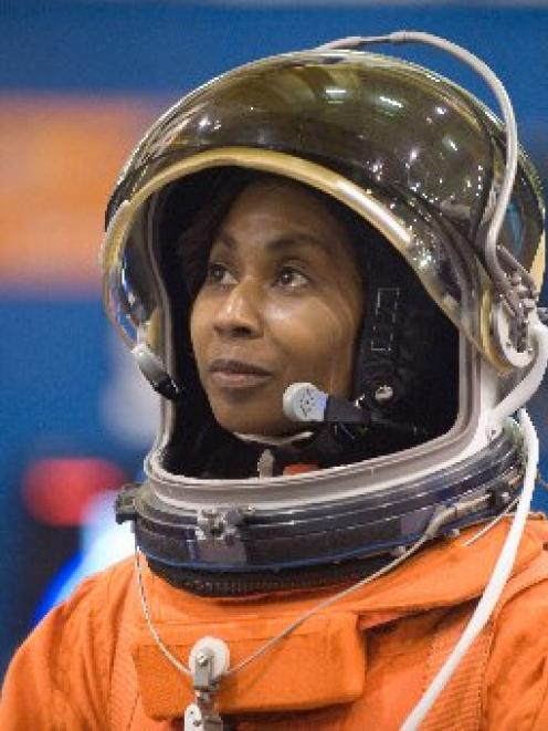 Veteran Nasa astronaut Stephanie Wilson during a space flight on board space shuttle Discovery....