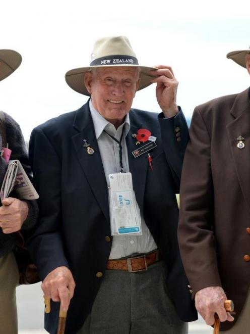 Veterans (from left) Jim Quested, of Georgetown, North Otago,  and Bill Roulston and Tom Dungey,...