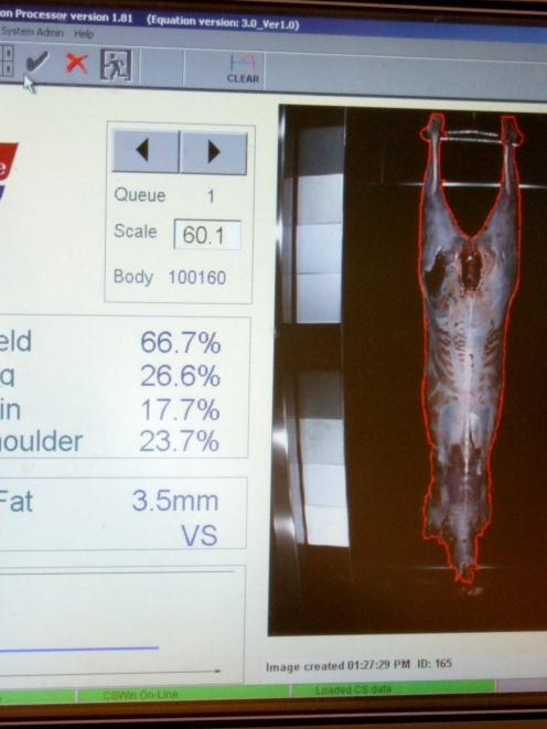 VIAscan technology measures the meat on a deer carcass, less the fat and bone, to capture yield...