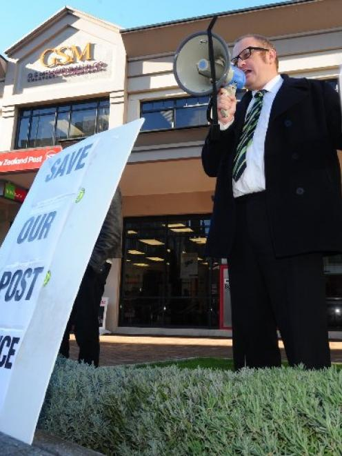 Victor Billot during the campaign to fight the closure of the Dunedin Metro Post Shop in the...