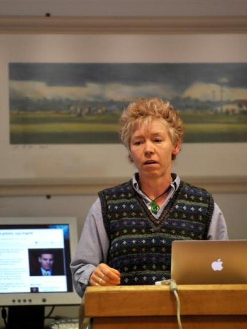 Victoria University forensic clinical psychologist Associate Prof Devon Polaschek gives a public...