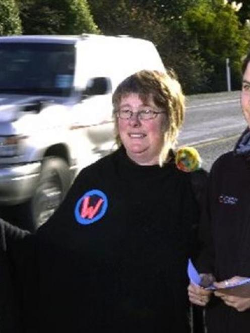 W3 Ride Share organisers Louise Booth (left) and Jackie Fanning, of Waitati. Photo by Gerard O...