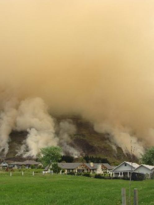 A permitted burn-off in October on Hillend Station, Wanaka, sent thick plumes of smoke over the...