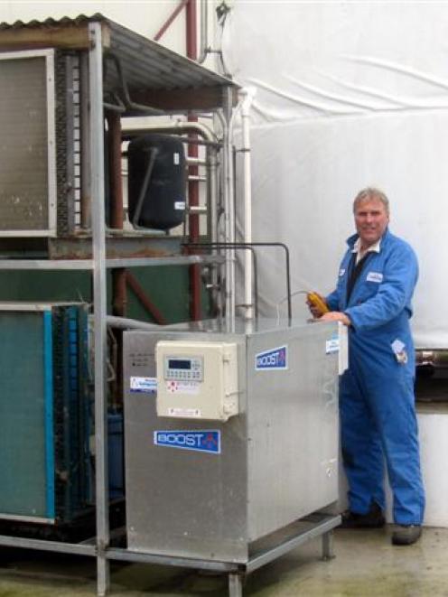 Waitaki Refrigeration managing director David Ferguson at a North Otago farm fitted with an...