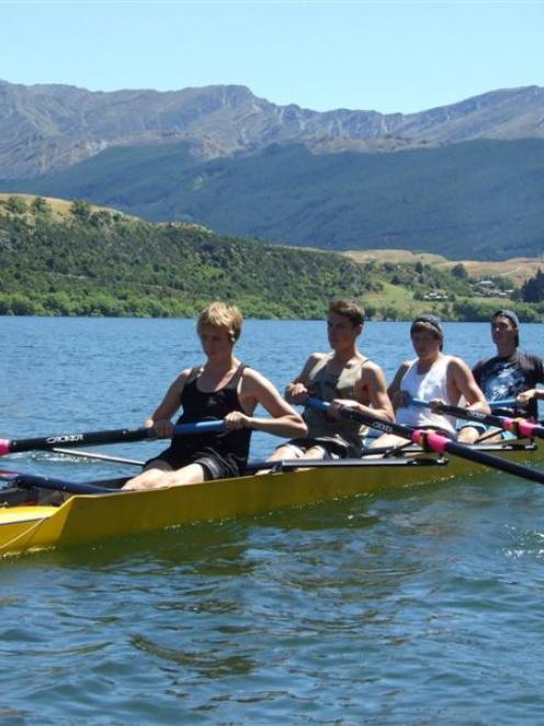 Wakatipu under-17 boys four rowers (from left)  Josh Speight, George Bellamy, Dan Halligen and...