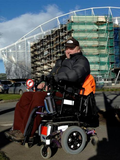 Walking routes to the Forsyth Barr Stadium will not exclude people with disabilities like Marty...