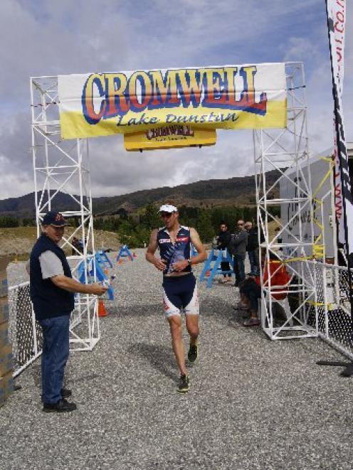 Wanaka athlete Dougal Allan won the Lake Dunstan Triathlon yesterday, using it as a warm up for...