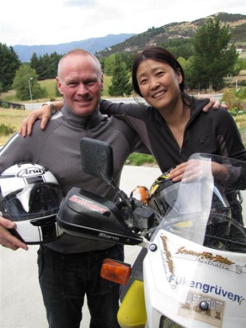 Wanaka couple Andi and Ellen Delis are planning to ride their motorcycles from Alaska to...