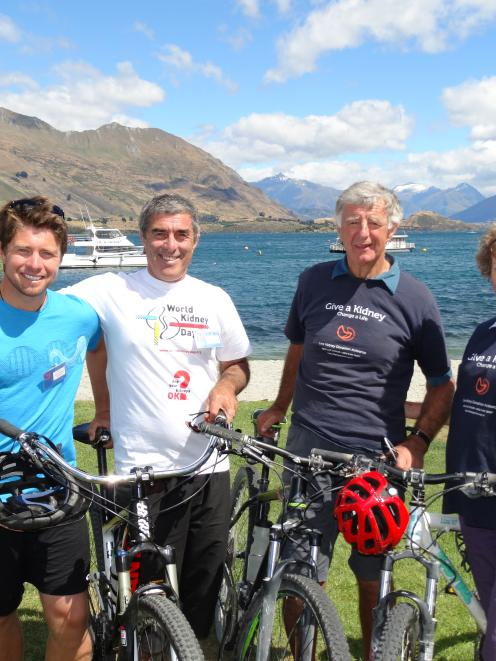Wanaka father and son Richie (32, left) and Rob Johnston (60), and Whangarei couple Hugh (70,...
