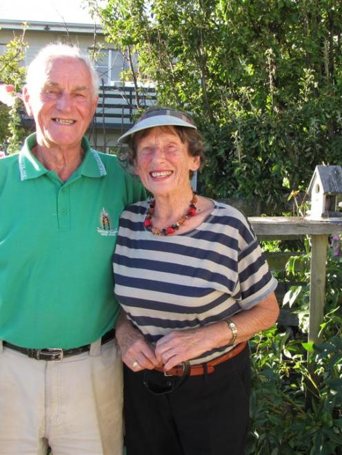 Wanaka motel owner-operators Bill and Marjorie Durry, who celebrate their 60th wedding...
