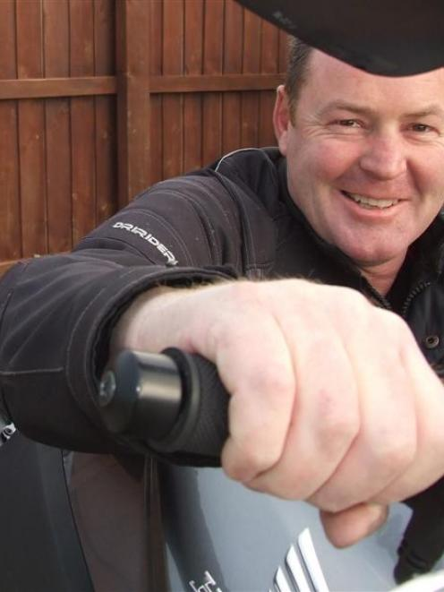 Wanaka Motorcycle Club member Mark Dick does not want the predicted snow to cast a chill over a...