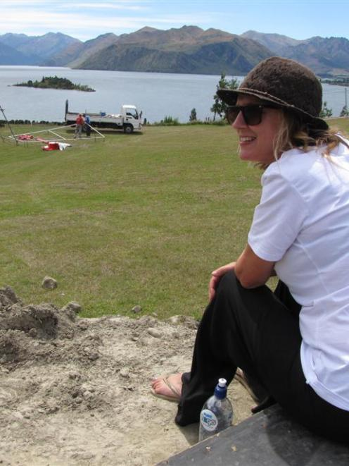 Wanaka's Rippon music festival founder Lynne Christie looks over the event venue, Rippon Vineyard...