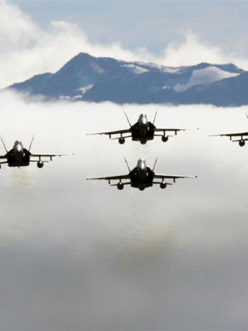 Warbirds Over Wanaka is keen to have the Australian F/A-18 Hornets back next year. Photo supplied.