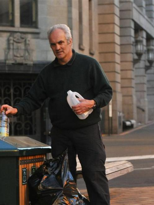Warehouse precinct resident Angus Mackay says extending Dunedin's recycling scheme to inner-city...