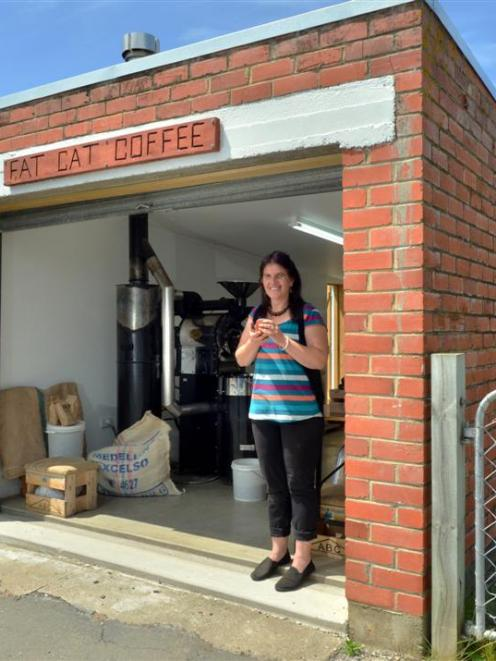 Wendy Jepson operates a coffee-roasting business from a converted garage at her Outram home....