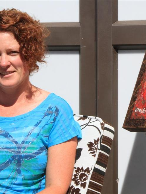 West Otago Art and Craft Exhibition president Julie-Anne Kelly. Photo by Hamish MacLean.