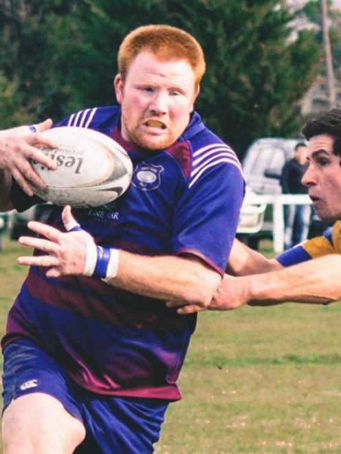 West Taieri No 8 David McNeill during the 2013 senior final against Strath Taieri. West Taieri...