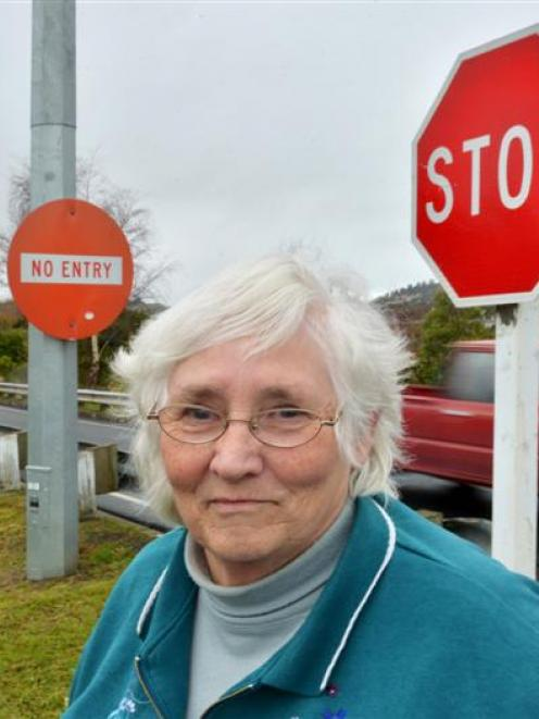 Westland St resident Heather Heaps says better signage is needed to ensure people do not drive up...