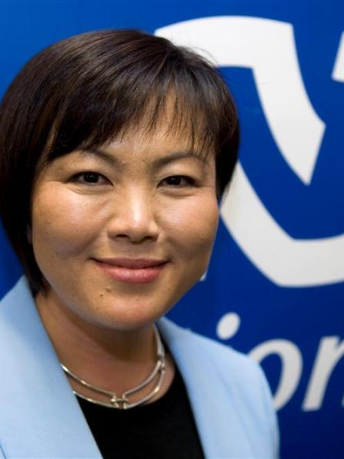 Winning candidate Melissa Lee at the National Party's meeting to select their candidate for the...