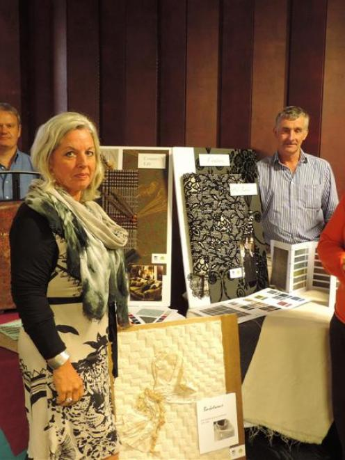 Wools of New Zealand personnel showcase the company's international position at the roadshow are ...