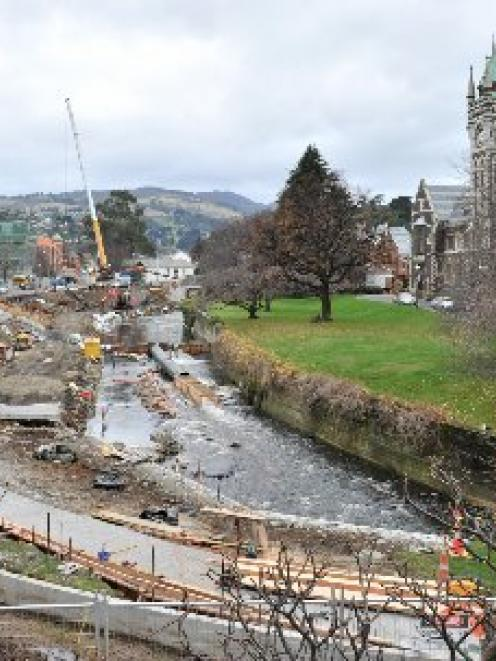 Work continues on the Otago Regional Council's flood protection scheme on the Water of  Leith in...