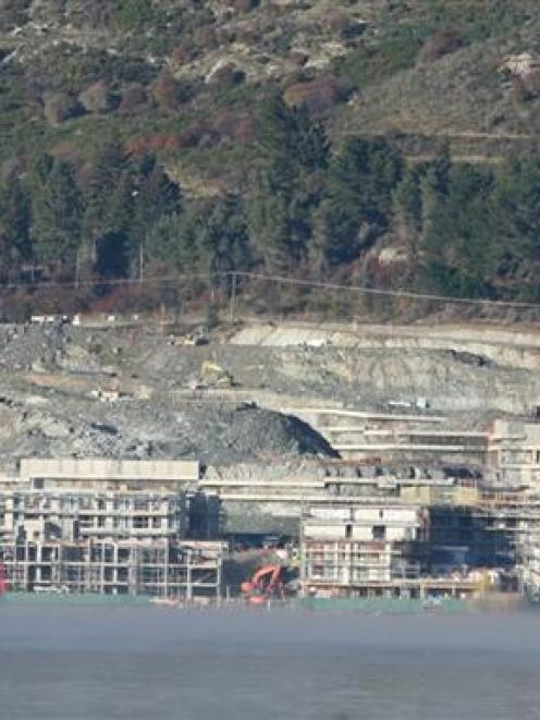 Work is continuing on the $1 billion Kawarau Falls Station development at Frankton, despite a two...
