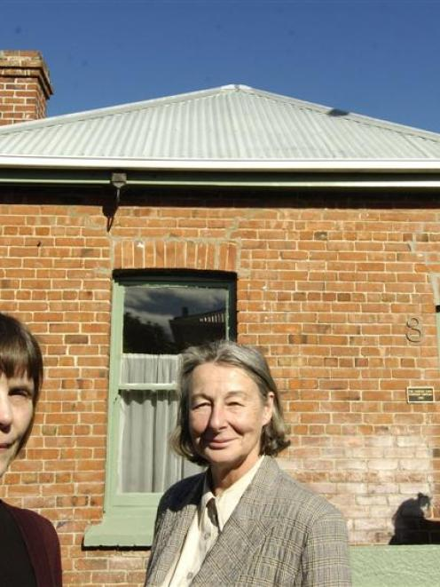 Friends of Robert Lord Writers Cottage co-ordinator Claire Matthewson (left) and cottage trust...