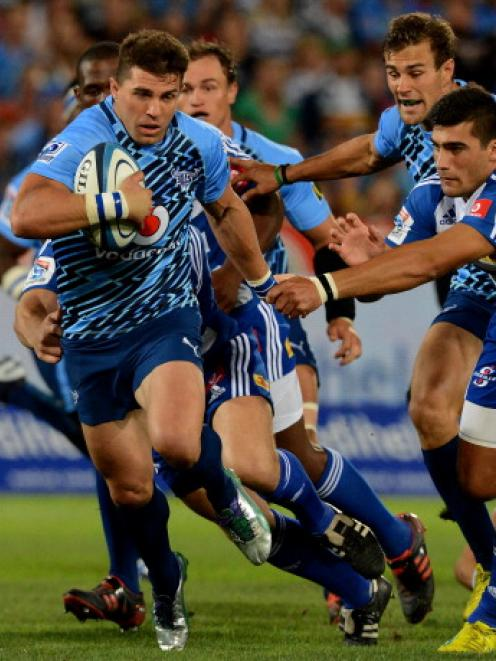 Wynand Olivier of the Bulls breaks the line against the Stormers during their Super 15 match at...