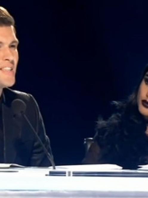 X Factor judges Willy Moon and Natalia Kills