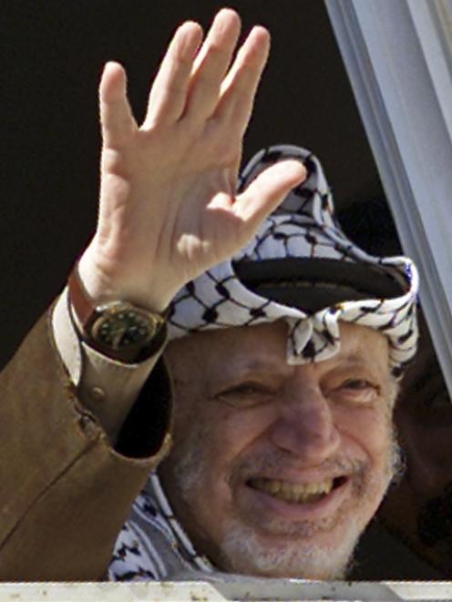 Yasser Arafat. Photo by Reuters