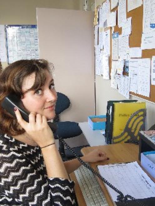 Youthline Dunedin mentors Olivia Scobie (left) and Sarah Zydervelt often take calls from...