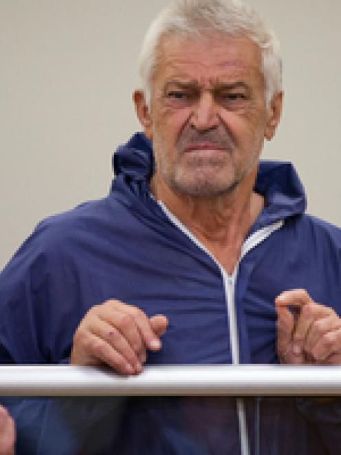 Zijad Garibovic in the dock at Auckland District Court this afternoon. Photo / Sarah Ivey