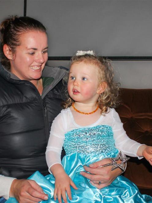 South Otago Theatrical Society member Sarah Van Asperen and daughter Liberty (2), dressed as Elsa...