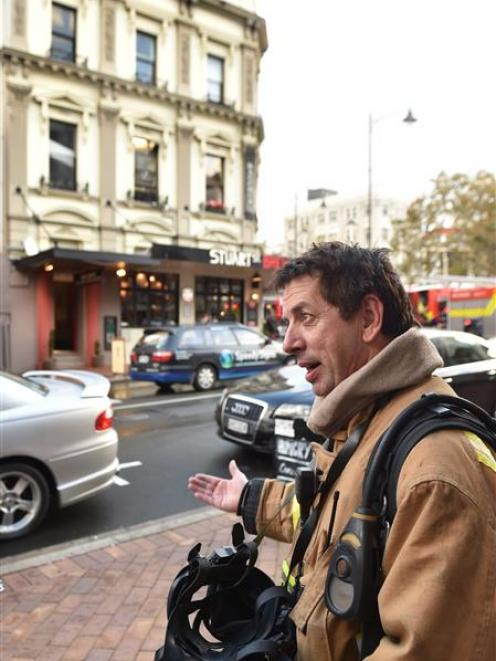 Senior Station Officer Pete Douglas, of Dunedin, was shocked to find a padlocked fire exit door...