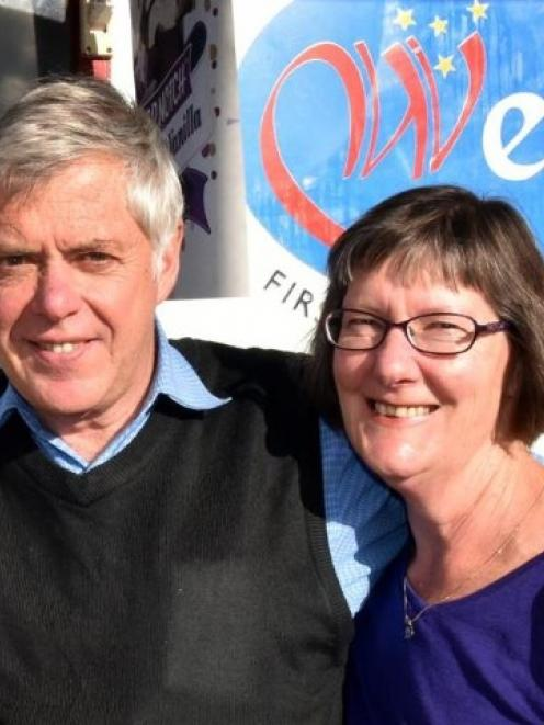 Wests (NZ) Ltd operators Alf and Kaye Loretan are relieved that the shop's  liquor off-licence...