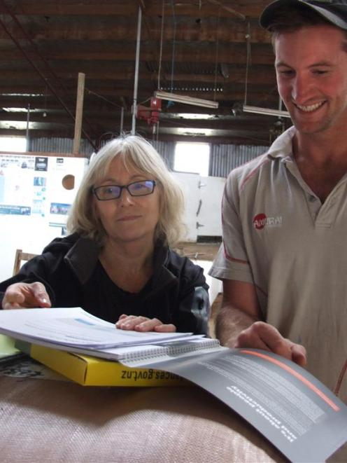 WorkSafe Otago health and safety inspector Lynn Carty discusses farm safety with East Otago...