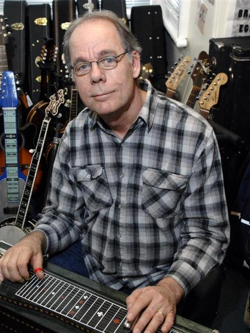 John Egenes With A Pedal Steel Guitar Photo By Linda Robertson