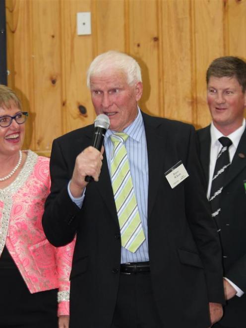 Owaka farmer Bruce Wilson speaks at the annual Century Farm awards, where his family farm was...