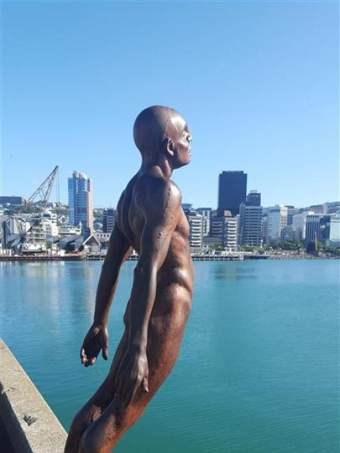 'Solace in the Wind', by Max Patte, on the Wellington waterfront. PHOTOS: DAVID LOUGHREY